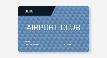 Blue Airport Club Card