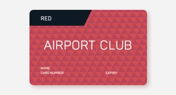 Red Airport Club Card