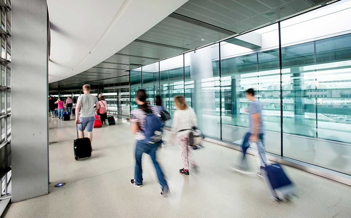 Passengers Travelling through Dublin Airport