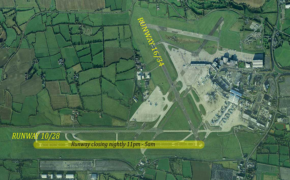 Dublin Airport Runway Overlay  Aerial View