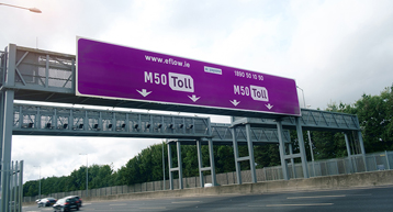 Dublin M50 Toll Road and signage