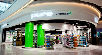 Pure Pharmacy Dublin airport shop front