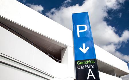 car park A signage