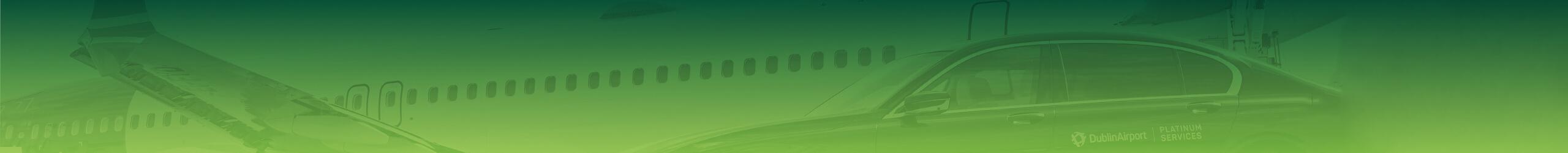 Platinum chauffeured car beside plane