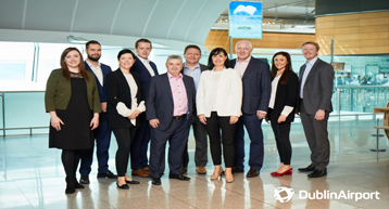 Dublin airport B2B team photo