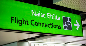 Green Flight connections sign