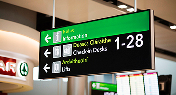 Dublin Airport Check in Sign