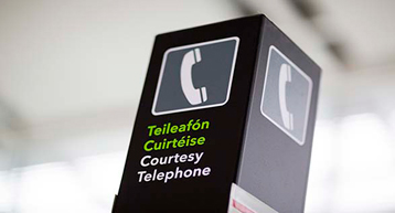 courtesy phone signage