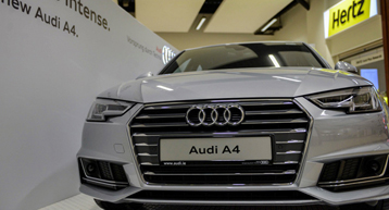 Audi car display Dublin airport