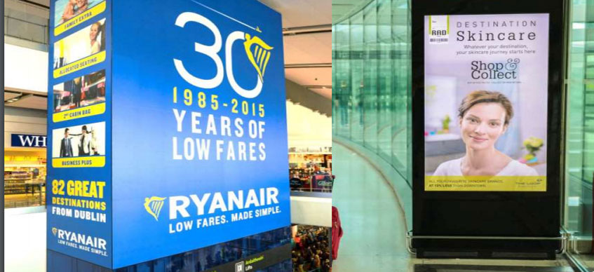 ryanair advertising Dublin airport