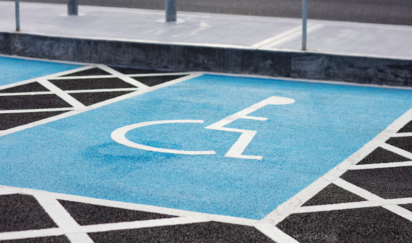Car Parks Reduced Mobility Space Red Express Large