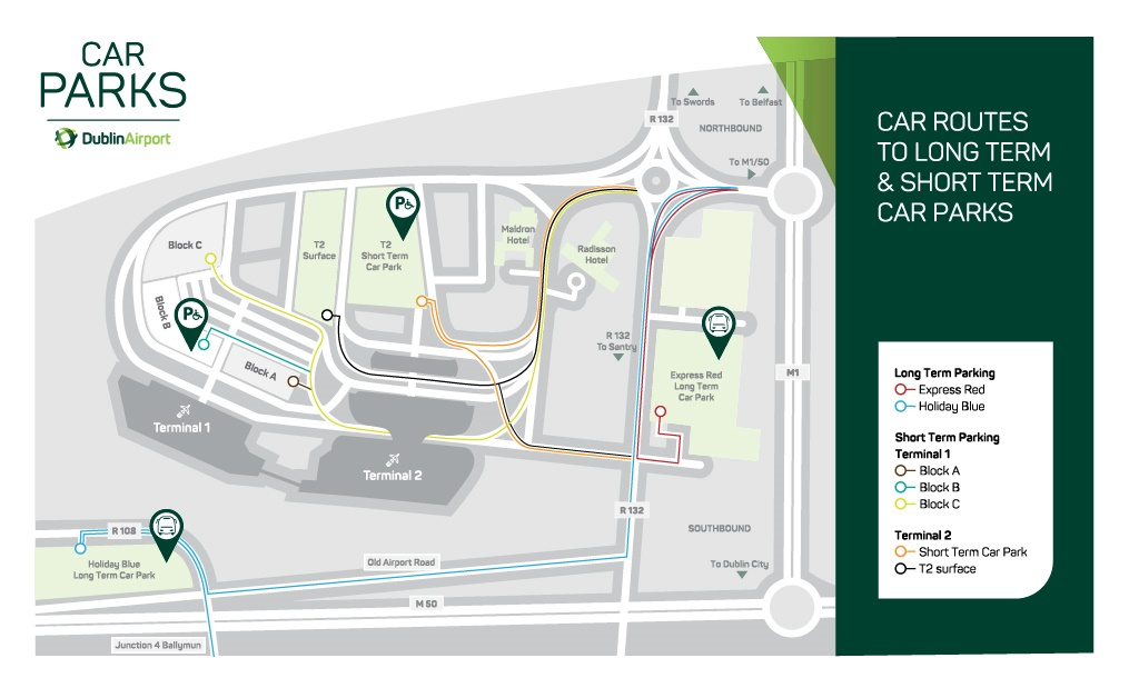 Dublin Airport Parking Map and Directions  Dublin Airport