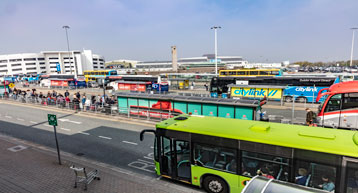 Bus Stops and buses at Dublin airport