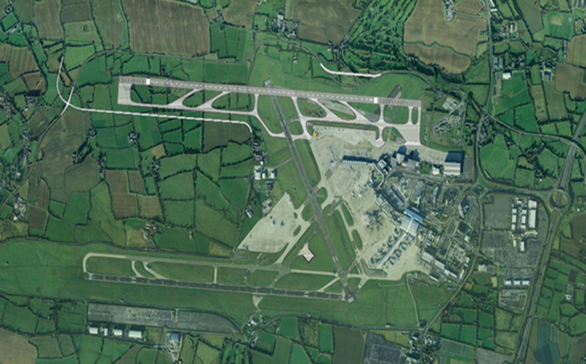 north runway aerial view