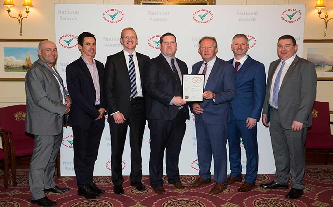 Roadbridge has won a Gold Award at the Considerate Constructors Scheme's 2018