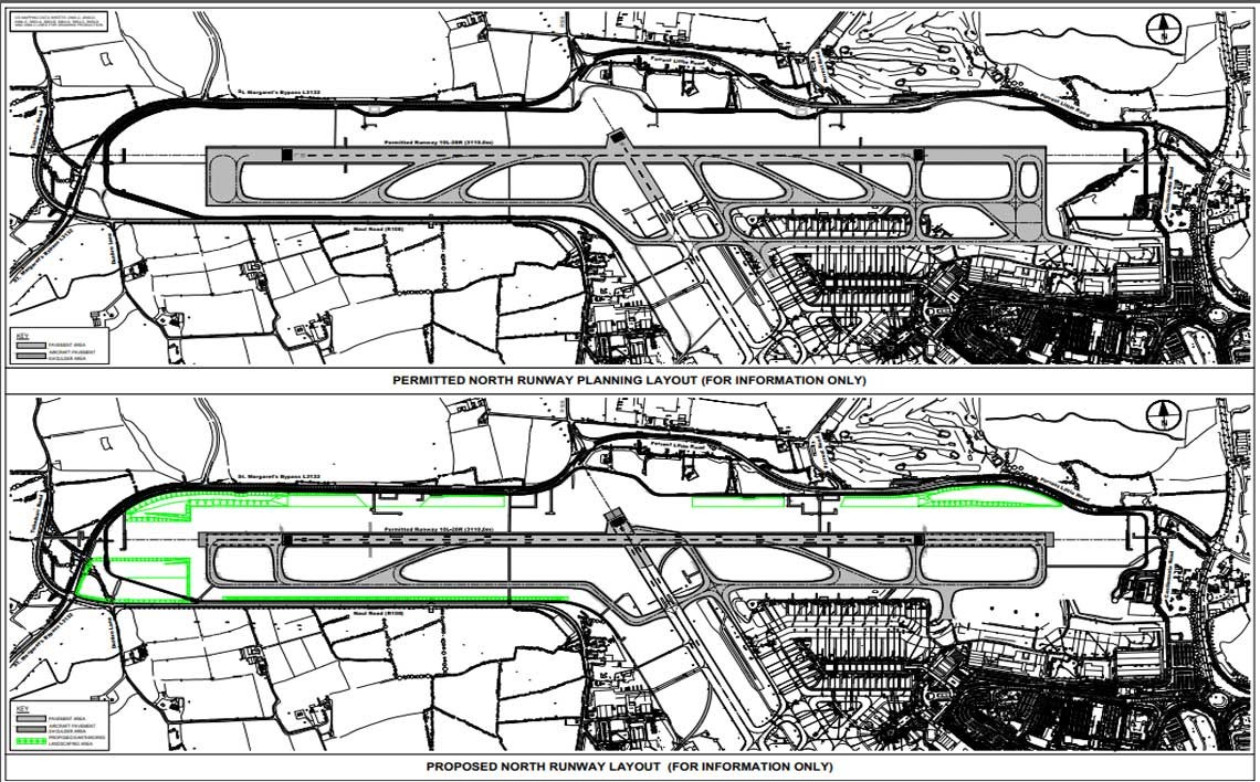 proposed north runway layout map